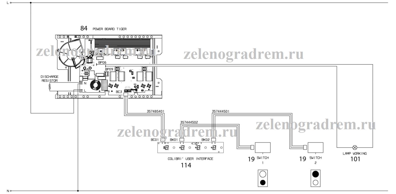 cхема индукционной варочной панели с механическими переключателями