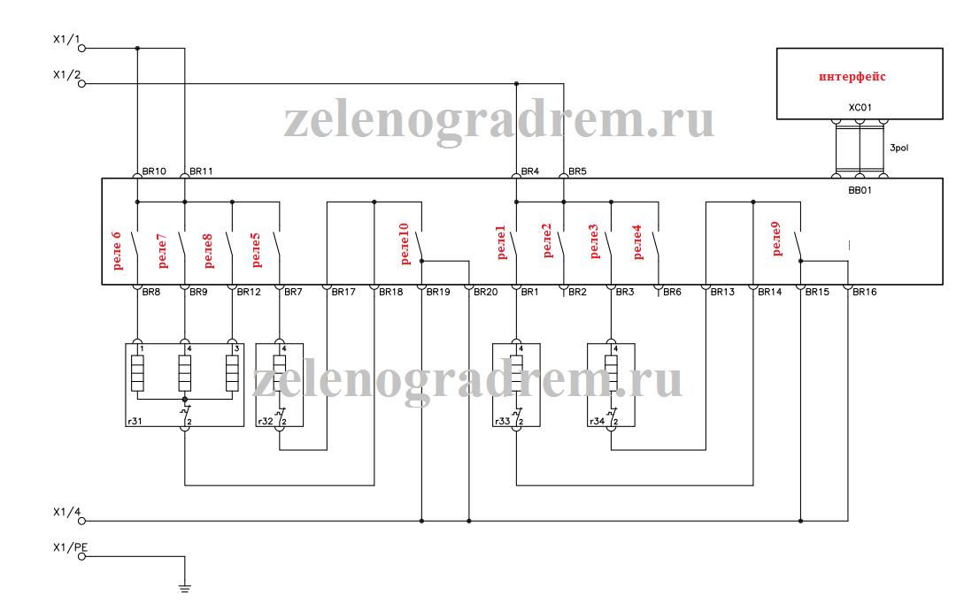 Схема для варочной поверхности Electrolux