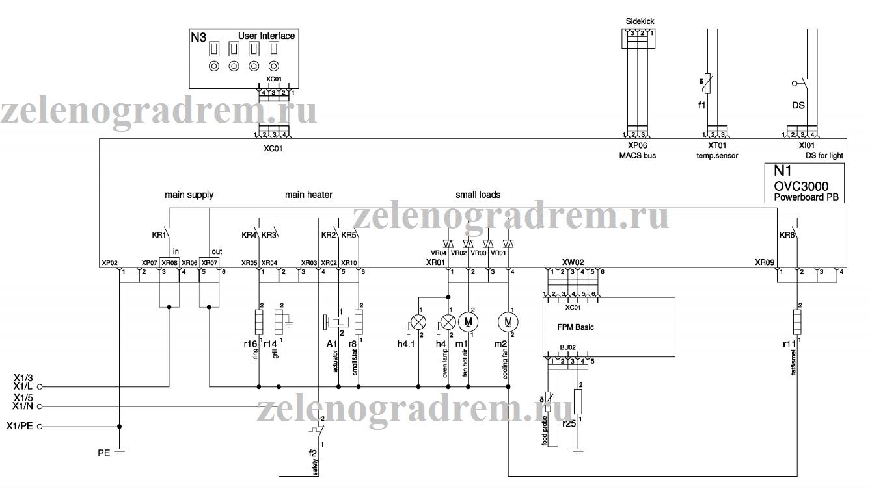 схема жарочного шкафа с электронным термостатом