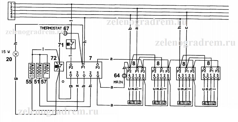 Принципиальная схема электроплит класса С