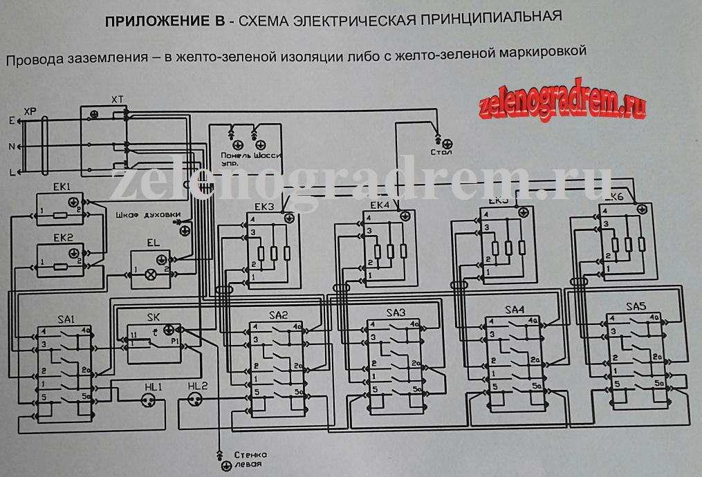 схема электроплиты arthouse ЭП4-57-2W