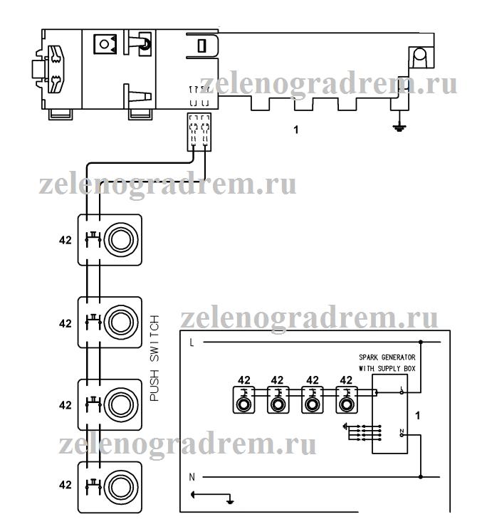 схема газовой варочной поверхности