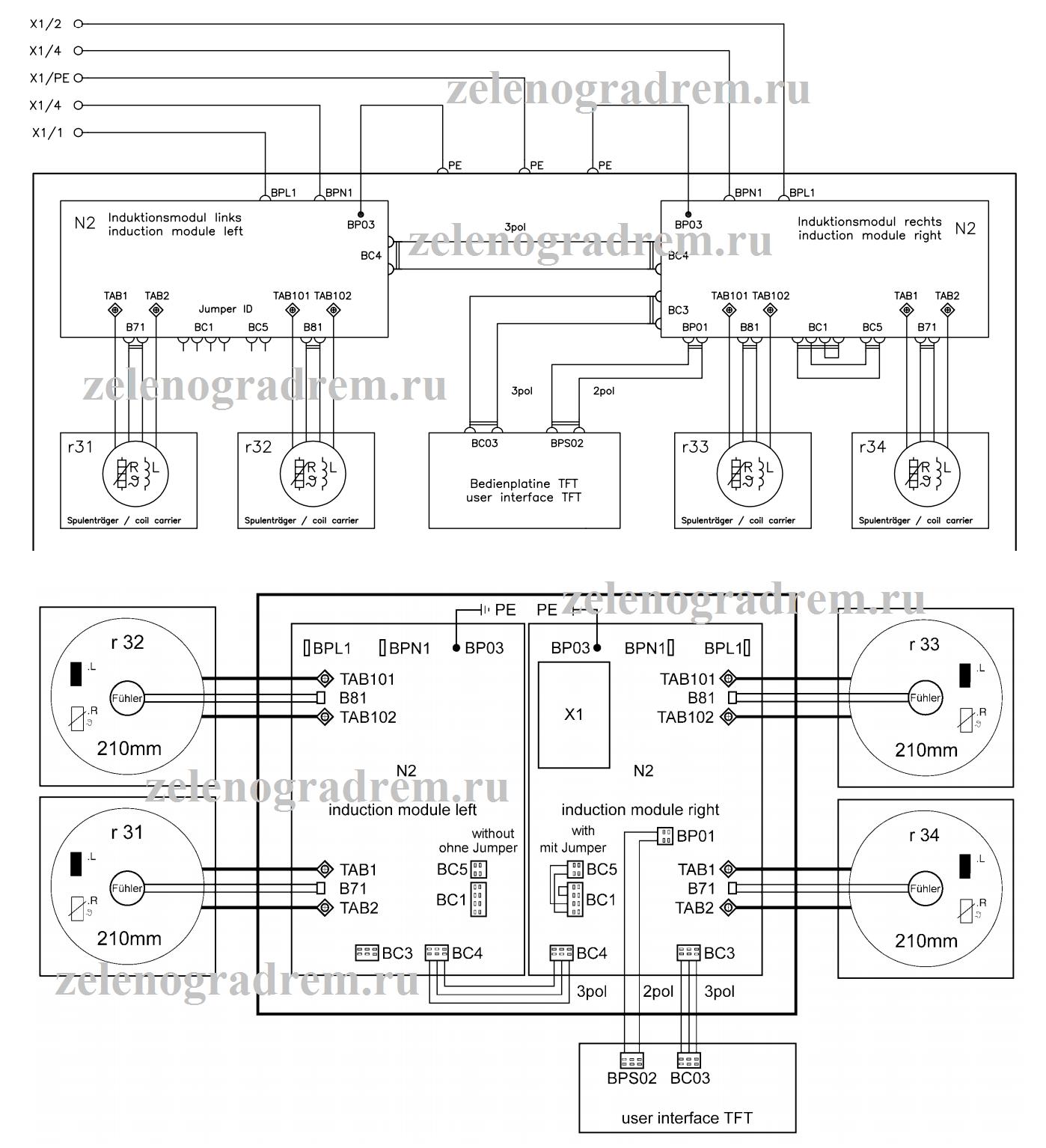 Электрическая схема варочной панели электролюкс5
