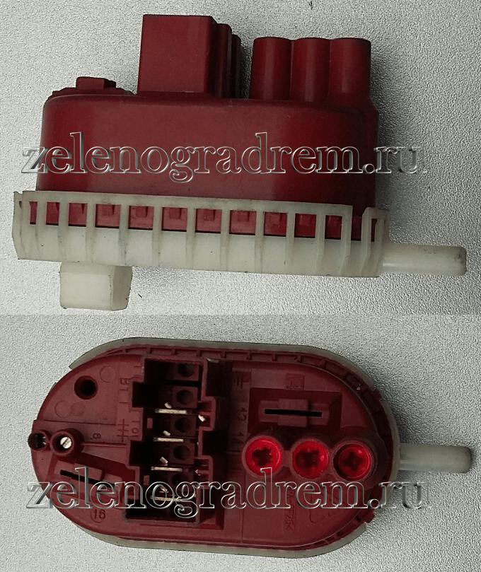 Прессостат, датчик уровня воды в баке стиральной машины