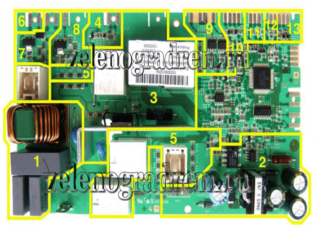 схема электронного модуля аег