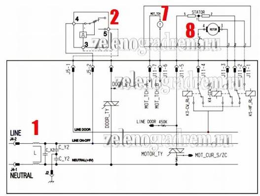 схема инверторного двигателя аег