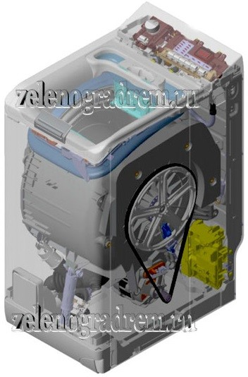 стиральная машина аег в разрезе