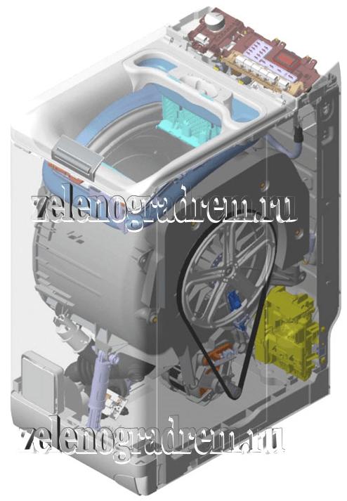 стиральная машина в разрезе схема