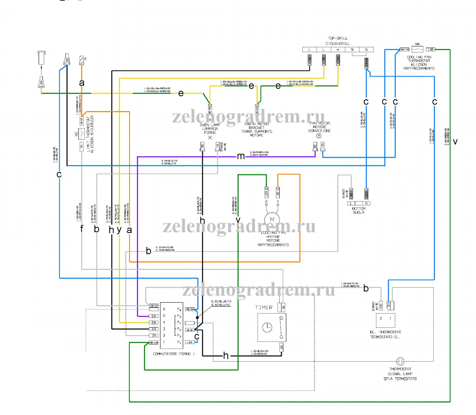 cхема духового шкафа с механическим таймером