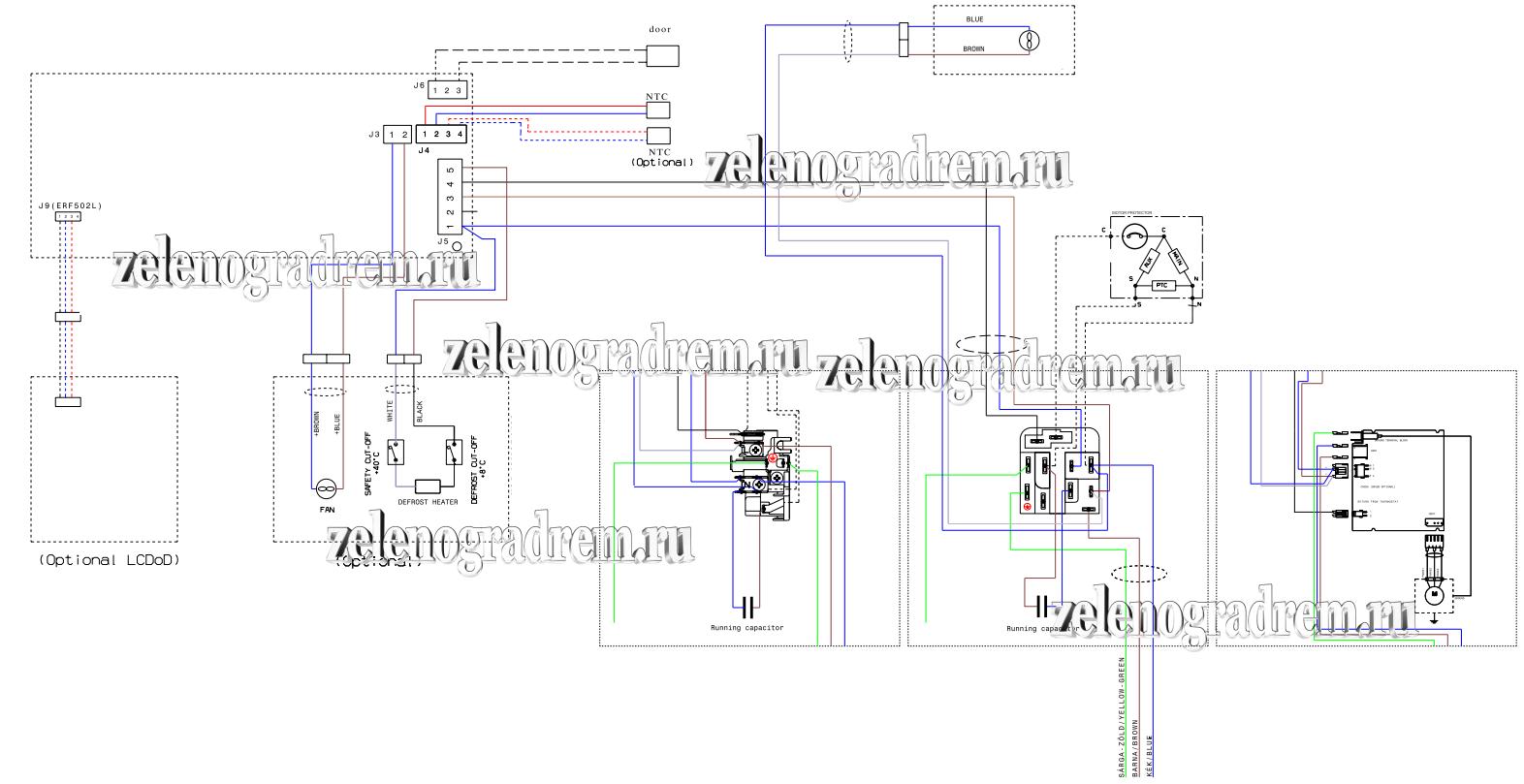 схема холодильника электролюкс с дисплеем