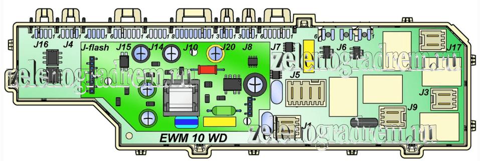 схема модуля управления машины аег