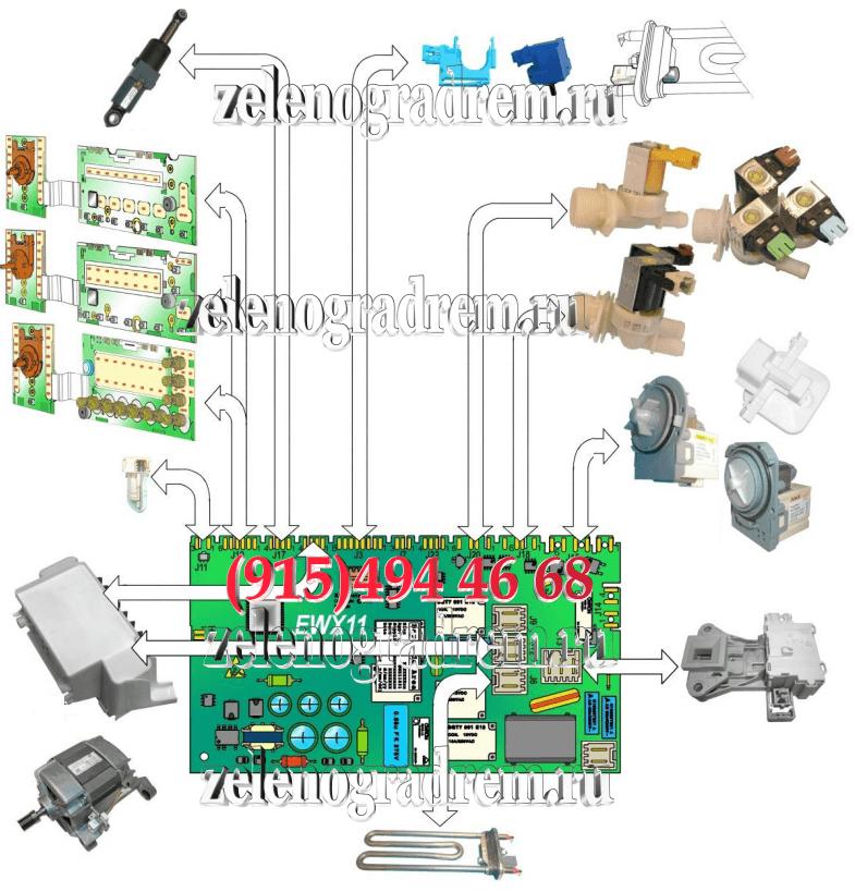 схема стиральной машины аег