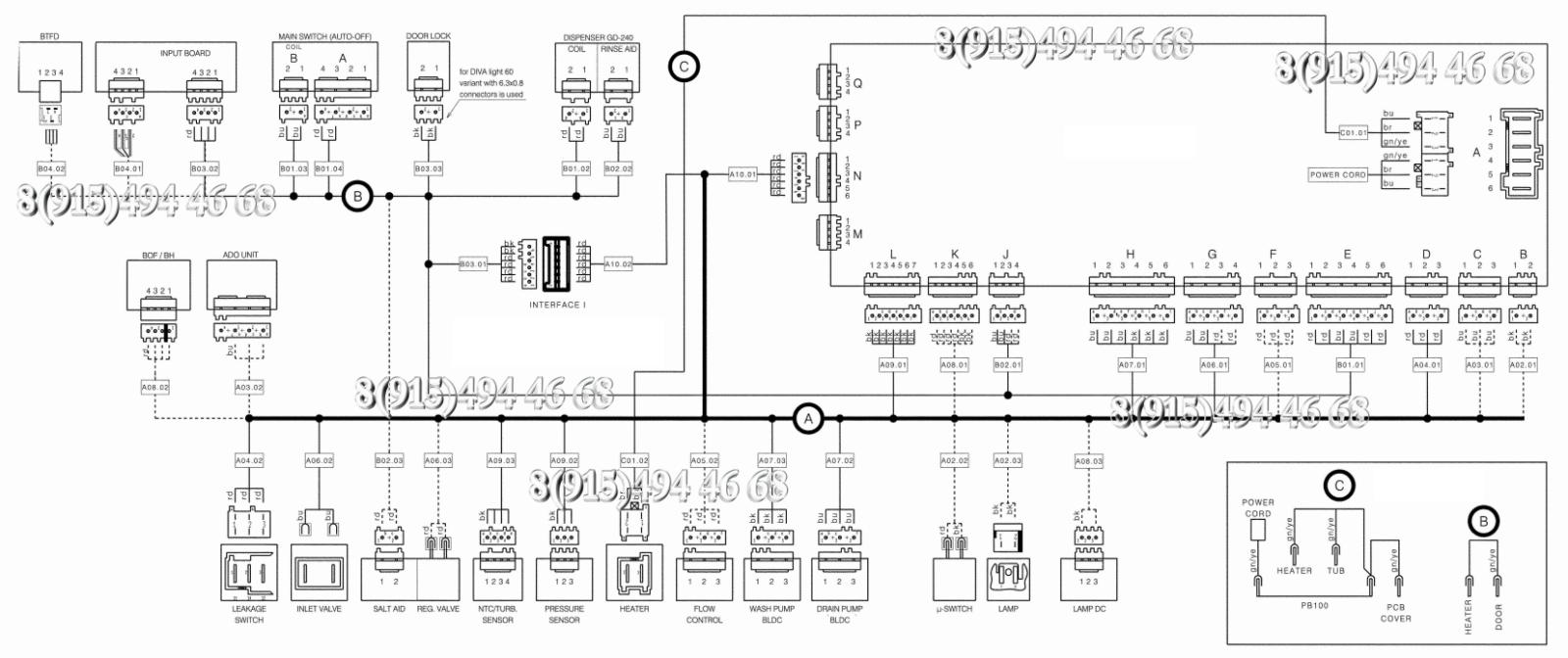 Схема Посудомоечной Машины Электролюкс