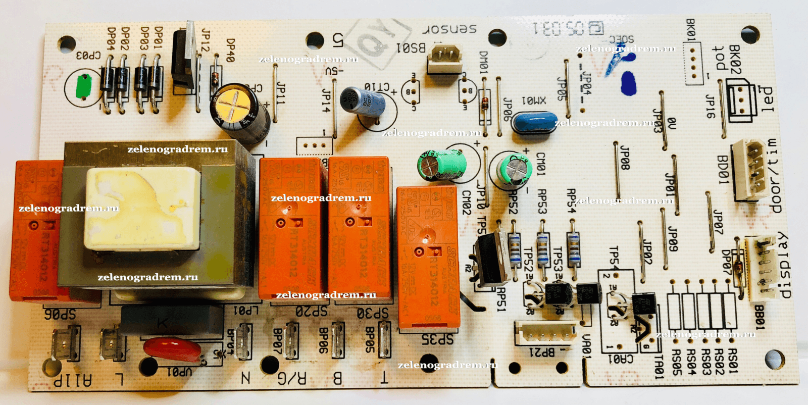 силовой модуль управления духового шкафа электролюкс