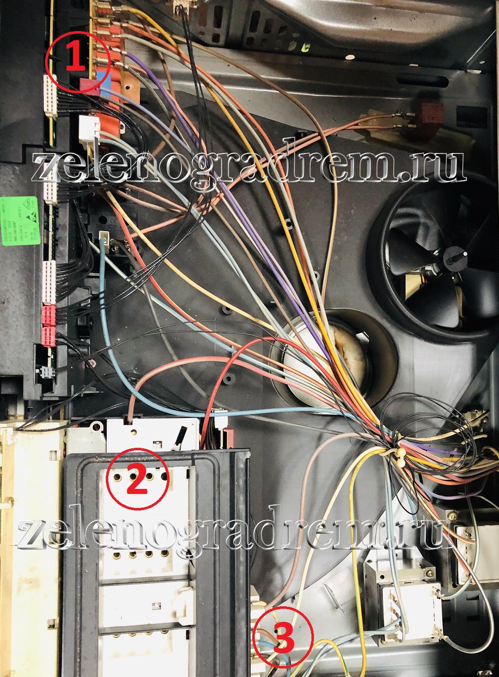 Духовой шкаф BOCSH управление варочной панелью
